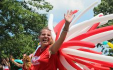 Extreme heat and humidity did not deter Sarnians from celebrating Canada's 151st birthday Sunday July 1, 2018 (BlackburnNews.com photo by Dave Dentinger)