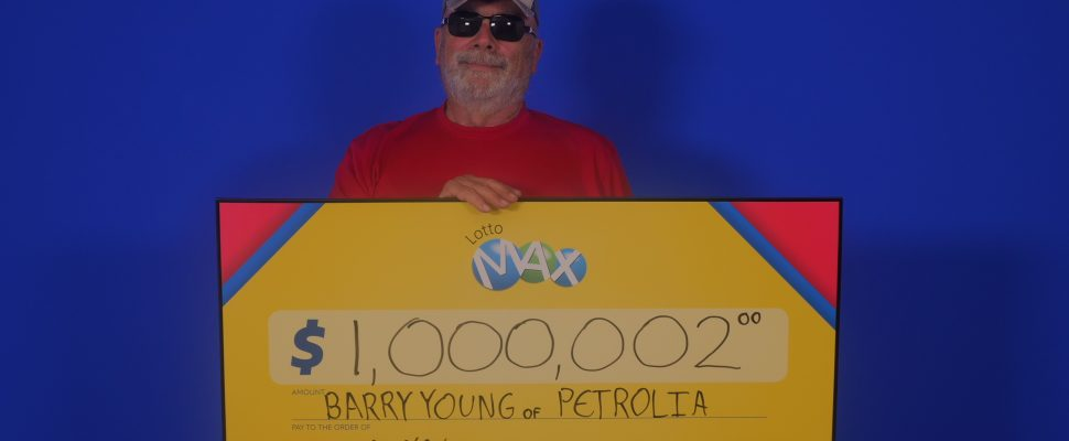 Petrolia resident Barry Young won $1-million from the May 11 draw. (Photo sent to BlackburnNews by OLG)
