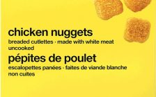 No Name Chicken Nuggets. (Photo courtesy of Health Canada).