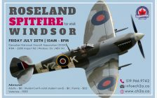 Roseland Spitfire will be at the Canadian Historical Aircraft Association July 20th. (Photo courtesy of the Canadian Historical Aircraft Association)