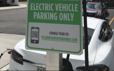 Electric vehicle charging station. Blackburn News Sarnia photo by Sue Storr.
