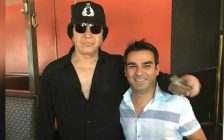 Kiss frontman, Gene Simmons and Jose's Bar and Grill owner, Donny Pacheco July 26, 2018. (Photo courtesy of Donny Pacheco)