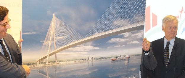 The Gordie Howe International Bridge will be a cable-stayed bridge. (Photo by Adelle Loiselle)