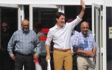 Prime Minister Justin Trudeau at Highbury Canco in Leamington, July 1, 2018 (Photo by Adelle Loiselle)