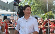 Prime Minister Justin Trudeau in Leamington, July 1, 2018. (Photo by Adelle Loiselle)