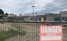 Construction at former St. Clair Secondary School Sarnia. August 29, 2018 Photo by Melanie Irwin
