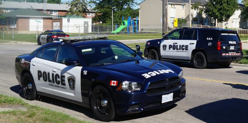 Sarnia police vehicles. Aug 23, 2016. BlackburnNews.com photo by Jake Jeffery.