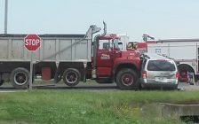The scene after a fatal crash at the intersection of Hwy. 40 and Langstaff Line just north of Wallaceburg. August 28, 2018. (Submitted photo)