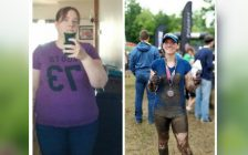Jennifer Tape-Samson before (left) and after (right) losing 105 lbs by exercising and eating healthy. (Photo courtesy of Jennifer Tape-Samson)