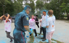 Colour Blast at Alexander MacKenzie Secondary School. September 21, 2018. (Photo from the Sarnia Police Service facebook)