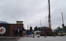 Construction work being done at East Side Mario's on London Rd. in Sarnia. September 25, 2018. (Photo by Colin Gowdy, BlackburnNews)