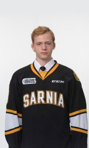 Former Sarnia Sting Cameron Hough. (Photo sent to Blackburn by the Sarnia Sting)