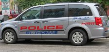 A St. Thomas police van. File photo by Miranda Chant, Blackburn News)
