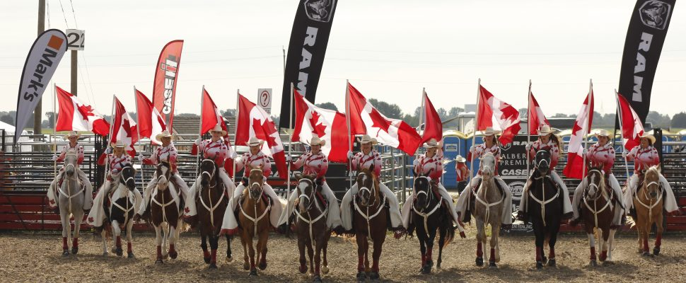 The Canadian Cowgirls, local to Chatham-Kent, performed to huge crowds daily at the International Plowing Match 2018. (Photo by Angelica Haggert)