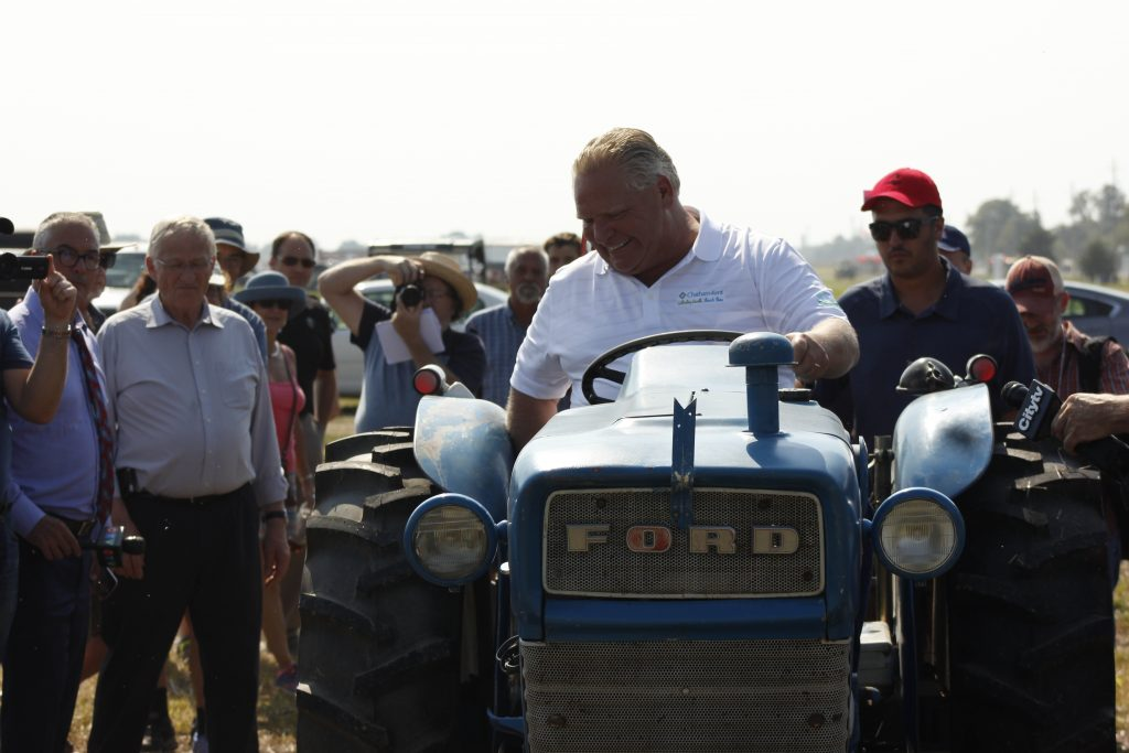 Doug Ford on tractor