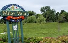 The entrance to Mike Weir Park in Bright's Grove. (Photo by Communities in Bloom from the City of Sarnia website)