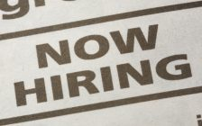 Now hiring ad in newspaper. (File photo courtesy of © Can Stock Photo)