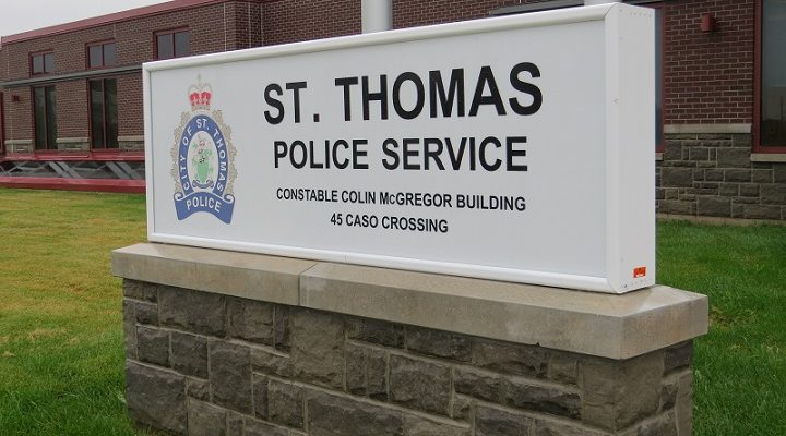 St. Thomas police headquarters on Case Crossing. (File photo by Miranda Chant, Blackburn News)