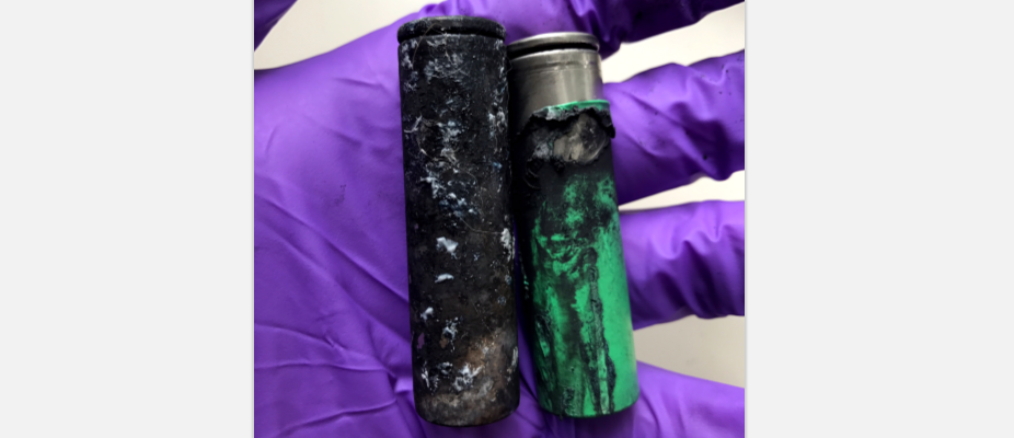 Exploded vape pen batteries recovered by Sarnia Fire and Rescue. September 15, 2018. (Photo sent to BlackburnNews by SFR)