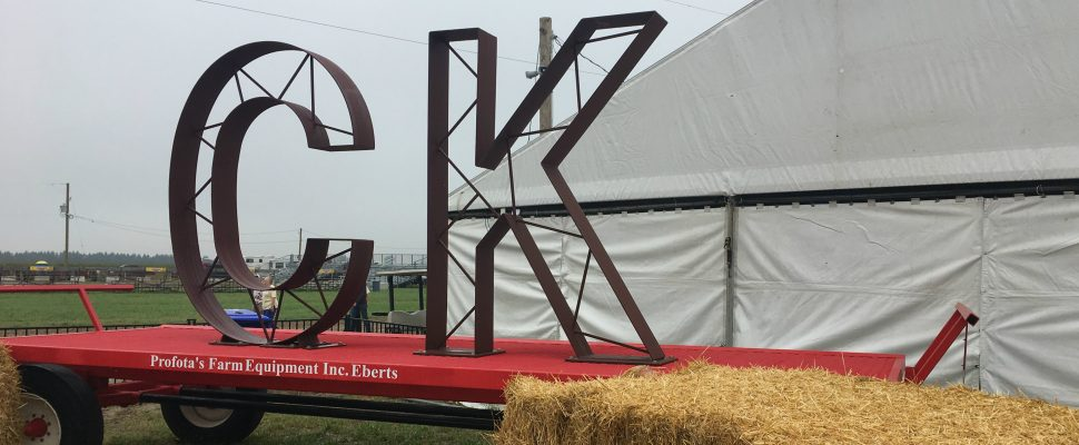 CK sign at the International Plowing Match site in Chatham-Kent. September 18, 2018. (Photo by Angelica Haggert)