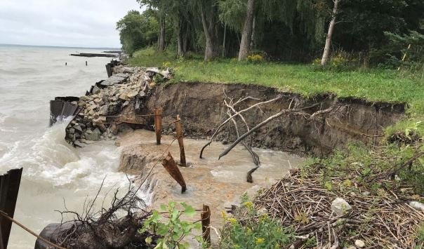 Mother Nature continues assault on Lake Huron shoreline