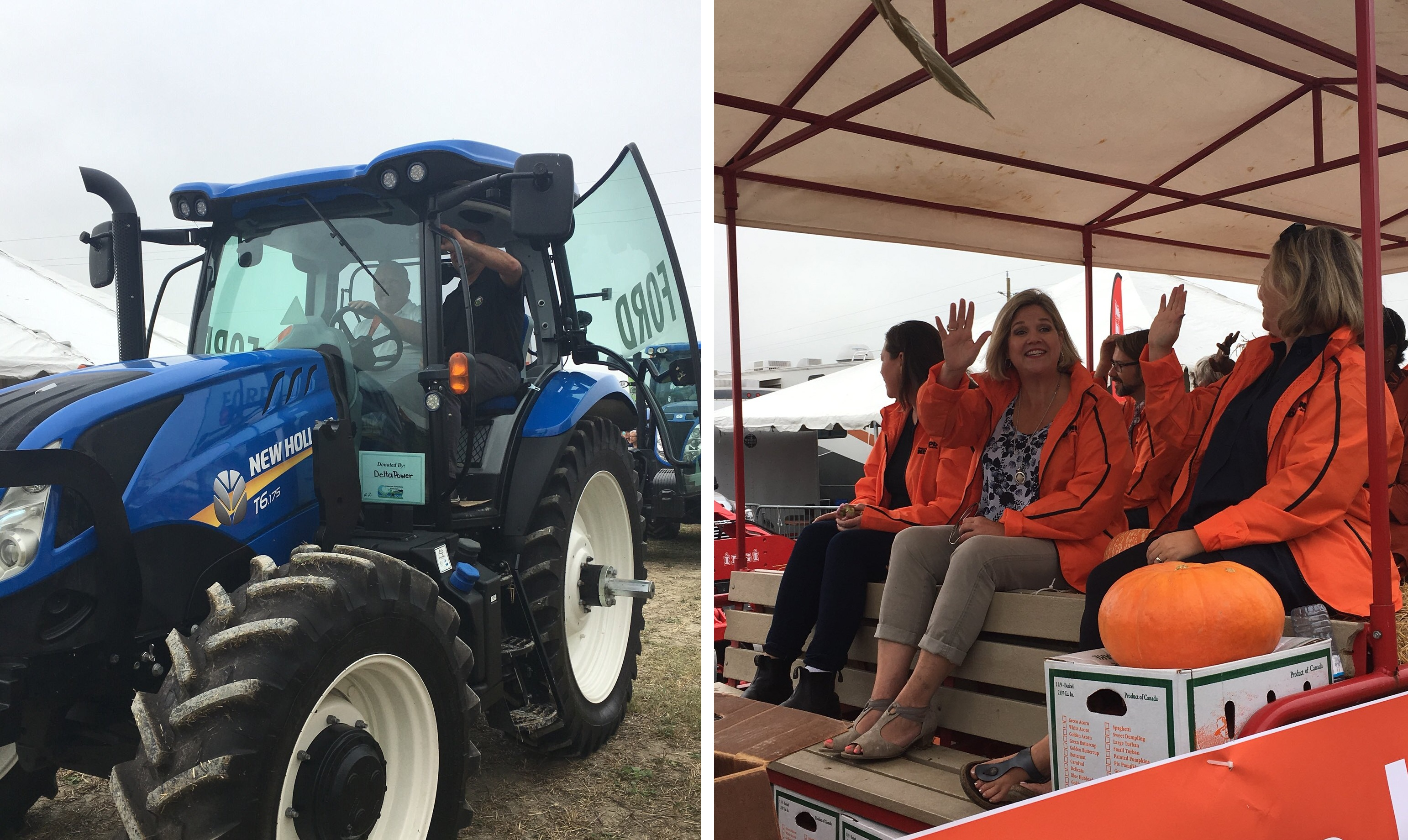 Ontario Premier Doug Ford (left) and Official Opposition leader Andrea Horwath (middle right) take part in the Opening Day Parade at the International Plowing Match in Pain Court. September 18, 2018. (Photos by Angelica Haggert)