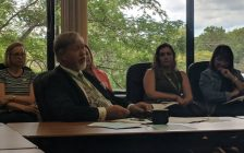 Dr. David Colby addressed Chatham-Kent Health Board and asks them to endorse a Toronto health official's suggestion to decriminalize all personal drug use. September 12, 2018. (Photo by Greg Higgins)