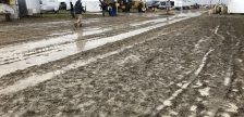 Muddy fields at the IPM in Pain Court. September 20, 2018. (Photo courtesy of Amanda Thibodeau)