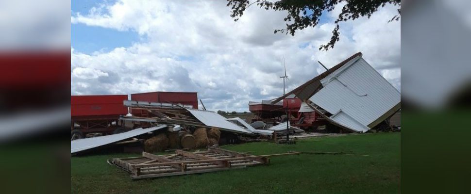 Damage in the Comber area from a severe thunderstorm Tuesday, September 25 2018 (Photo courtesy of Carol Lamb)
