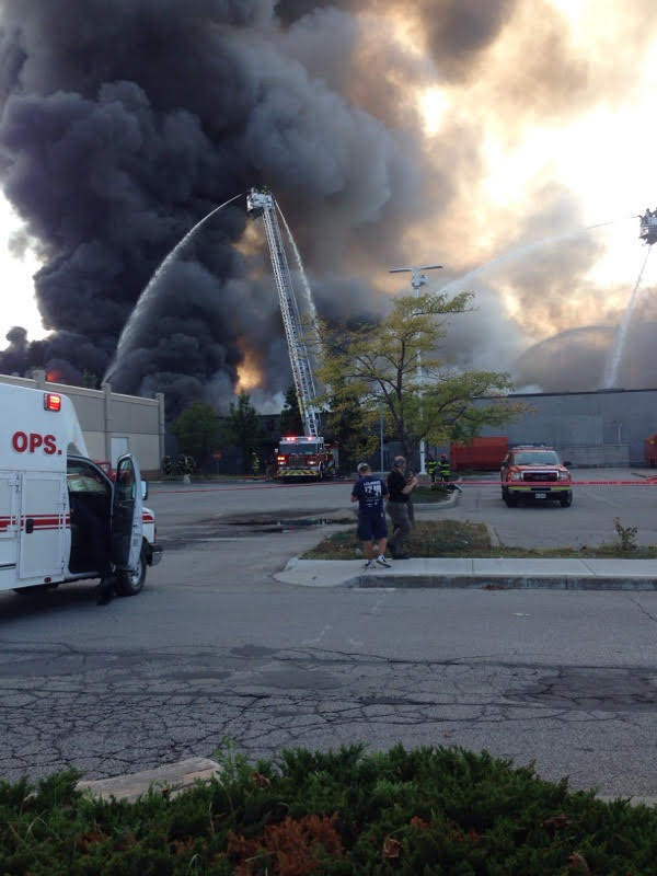 UPDATE: Fire burns for hours at plant in Walkerville (VIDEO)
