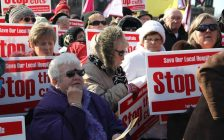 OHC protesters want hospital cuts to stop. (Photo from OHC Facebook).