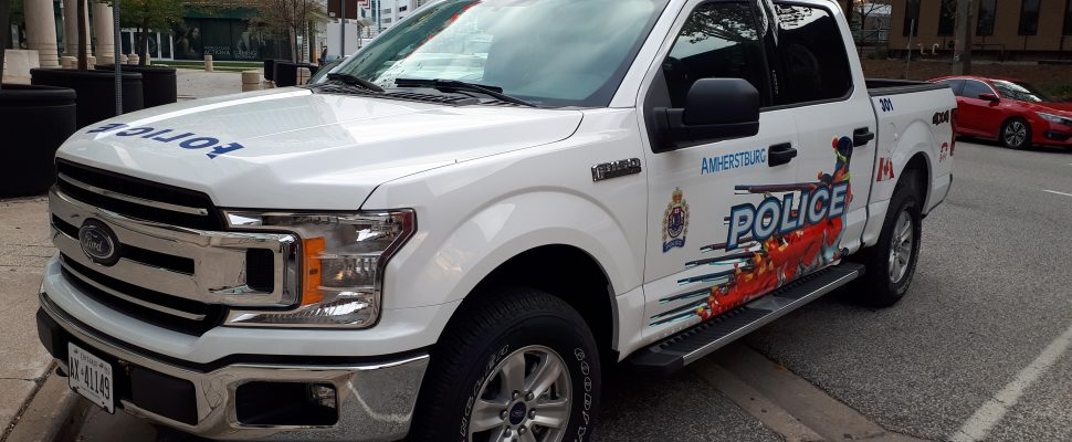 A redesigned Amherstburg Police vehicle is parked outside Windsor Police Headquarters on October 12, 2018. Photo by Mark Brown/Blackburn News.