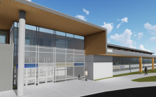 Architectural rendering of Chatham-Kent Secondary School front facade by Architecttura Inc. (Photo courtesy of the Lambton-Kent District School Board)