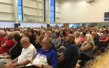 More than 500 Lakeshore residents left the Atlas Tube Centre Tuesday night very satisfied knowing that their mailing addresses will stay the same. Oct 9, 2018. (Photo by Paul Pedro)