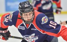 Jordan Frasca of the Windsor Spitfires. (Photo courtesy of Terry Wilson via OHL Images)