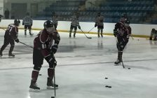 The Chatham Maroons during practice prior to a game against the LaSalle Vipers, October 3, 2018. (Photo by Matt Weverink)