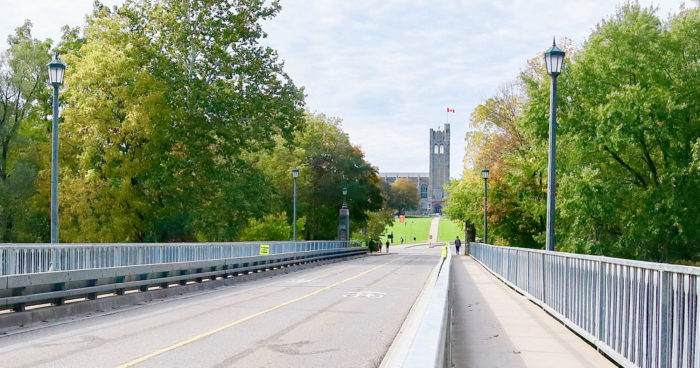 University Drive bridge in London. (Photo courtesy of Western University)