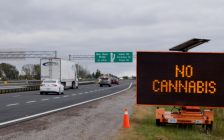 No Cannabis sign on the 402 in Sarnia between Modeland Rd. and Indian Rd. October 15, 2018. (Photo by Colin Gowdy, BlackburnNews)