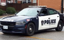 A Sarnia police cruiser. October 1, 2018. (Photo by Colin Gowdy, BlackburnNews)