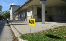 A polling station located within the Community of Christ - Woodfield Church on Colborne St., October 22, 2018. (Photo by Miranda Chant, Blackburn News)