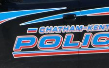 The side of a Chatham-Kent police cruiser. (Photo by Greg Higgins)