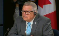 Canada's Minister of Public Safety Ralph Goodale addresses members of the media during a news conference on marijuana legalization. October 17, 2018. (Photo courtesy of the Cable Public Affairs Channel via http://www.cpac.ca)