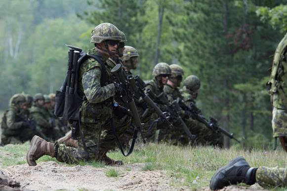 Soldiers from Windsor and Chatham are participating in a U.S. live fire exercise this weekend. Oct 18, 2018. (Photo courtesy of Canadian Armed Forces)