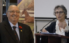 Sarnia-Lambton MPP Bob Bailey (left), and former Ontario Environmental Commissioner Dianne Saxe (right). (Photo by Colin Gowdy, BlackburnNews)