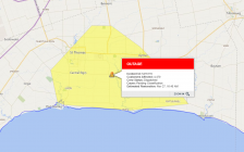 A power outage affecting thousands of Hydro One customers in Elgin County. (Photo courtesy of the Hydro One Storm Center)