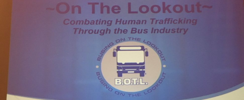 The Ontario Motor Coach Association & U.S.-based Busing on the Lookout are joining forces to combat the serious problem of human trafficking. Nov 12, 2018. (Photo by Paul Pedro)