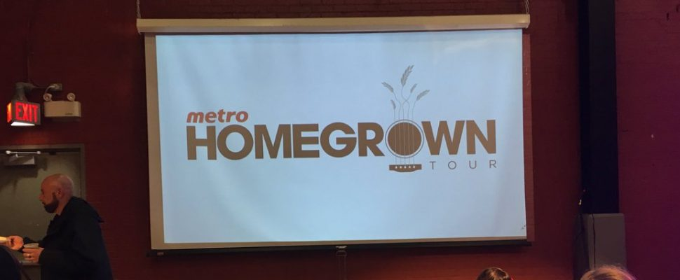 Metro Grocery Stores stopped in Windsor to promote homegrown foods. Nov 8, 2018. (Photo by Paul Pedro)