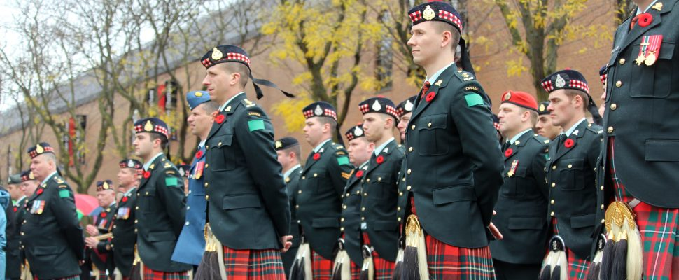 Remembrance Day ceremony at Chatham's Cenotaph, November 11, 2016 (Photo by Jake Kislinsky)