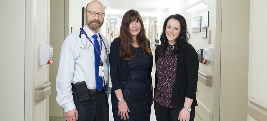 Dr. Michael Silverman, Dr. Sharon Koivu, and Dr. Laura Rodger. Photo courtesy of Lawson Health Research Institute.