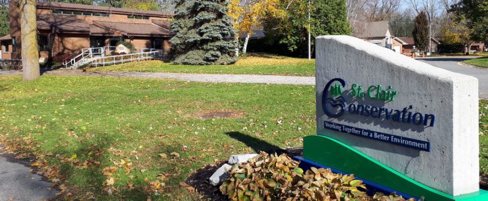 St. Clair Conservation Authority on Mill Pond Crescent in Strathroy. November 4, 2018. (Photo by Colin Gowdy, BlackburnNews)